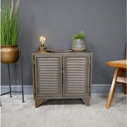 Industrial Metal Filing Cabinet Style Unit Storage Units Candle and Blue Interiors