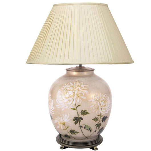 Jenny Worrall Chrysanthemum Large Round Glass Table Lamp Base Lighting aimbry