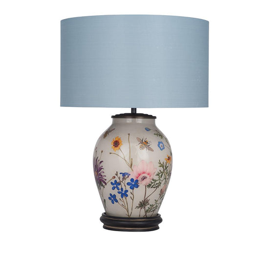 Jenny Worrall RHS Wildflower Lamp Base Lighting Candle and Blue Interiors