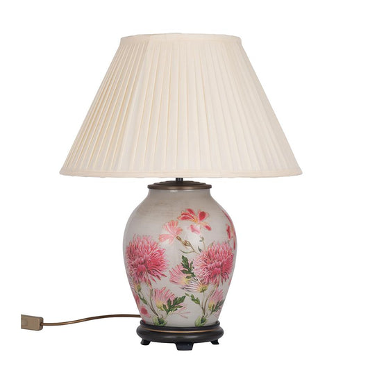 JW78 Jenny Worrall Dahila Alstroemeria Lamp Lighting Candle and Blue Interiors