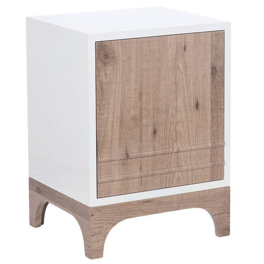 Scandi Style 1 Door Bedside Table Storage Units Candle and Blue