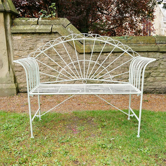 Small Metal Garden Bench Seat - Berwick Garden Furniture Candle and Blue Interiors