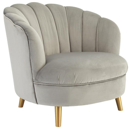 Soft Grey Velvet Upholstered Living Room Chair Accent Chairs Candle and Blue Interiors