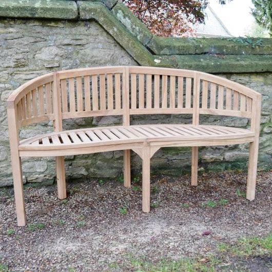 Teak 3 Seater Garden Bench Seat Garden Furniture Candle and Blue Interiors