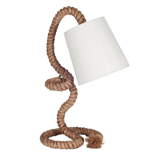 Twisted Rope Nautical Task Table Lamp Rope Lighting Candle and Blue