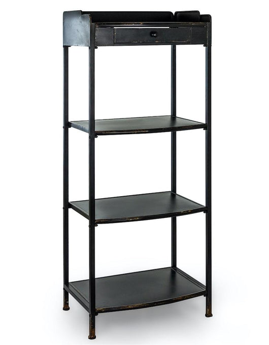 Verne Industrial Style Tall Shelving Unit Industrial Style Candle and Blue Interiors