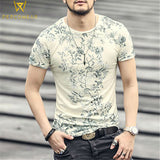 Printed Floral Cotton T-Shirt - PercoWear