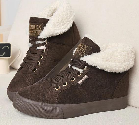 Faux Fur Winter Shoes - PercoWear