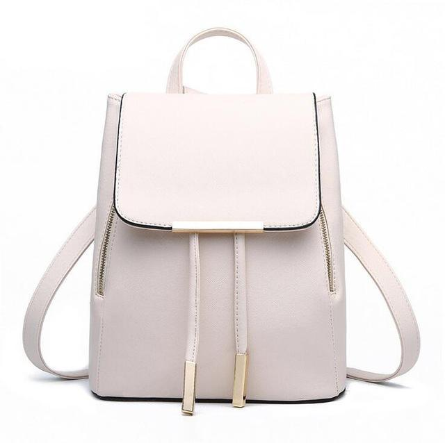 Faux Leather Top-Handle Backpack - PercoWear