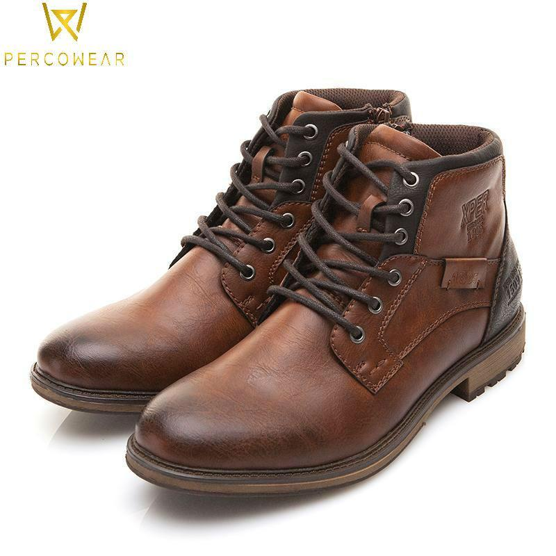 Vintage Leather High-Cut Shoes - PercoWear