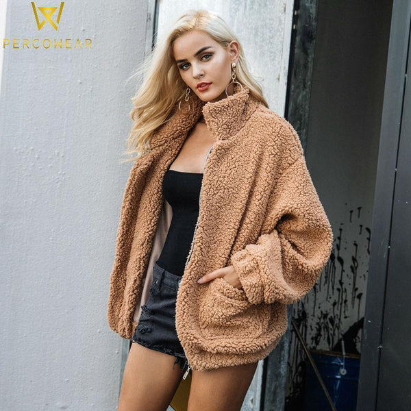 Faux Lambswool Jacket - PercoWear