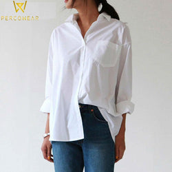 Blouses & Shirts White Button-Up Blouse NEW FASHION SHOW