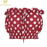 Minnie Polka Dot Tube Top - PercoWear