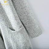 Long Sleeve Knitted Open Cardigan - PercoWear