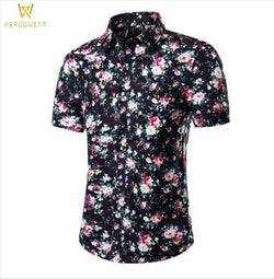 Casual Shirts Floral Print Party Shirt mmnjjjj Store