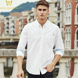 Casual Shirts Slim Fit Button-Down Cotton Dress Shirt PioneerCamp Official Flagship Store