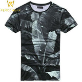 Printed Tropical Cotton T-Shirt - PercoWear
