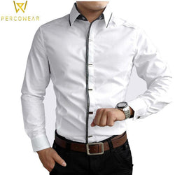 Dress Shirts Cotton Slim Fit Button-Down MIACAWOR Official Store