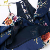 Dresses Floral Layered Backless Summer Dress Sexy Holiday Beach Store