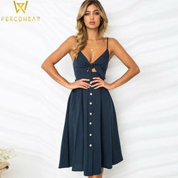 Homecoming Cutout Button-Down Dress - PercoWear
