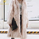 Elegant Long Faux Fur Jacket - PercoWear
