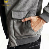 Grey Bomber Jacket - PercoWear