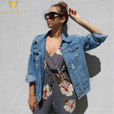 Oversized Distressed Denim Jacket - PercoWear