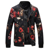 Flower Print Bomber Jacket - PercoWear