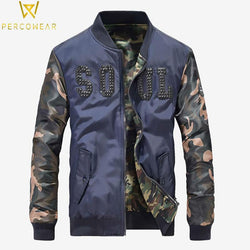 Slim Camo Bomber Jacket - PercoWear