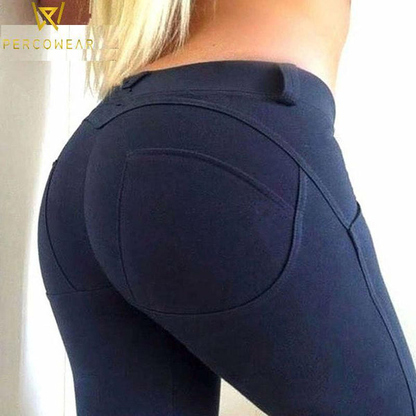 Low Waist, Push Up, Casual Leggings - PercoWear