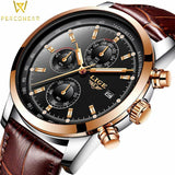 Quartz Watches Luxury Military Quartz Watch with Leather Strap 7Time store