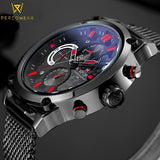 Military Style Stainless Steel Quartz Watch - PercoWear