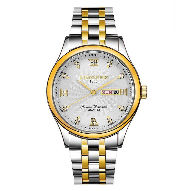 Gold Plated Waterproof Quartz Watch - PercoWear
