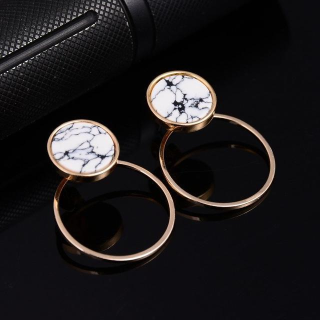 Dual Geometric Stud Earrings - PercoWear