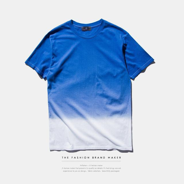T-Shirts dark blue / S Hip Hop Dip Dye T-Shirt Fangfei Lodge Store