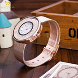 Rose Gold & Silver Stainless Steel Quartz Watch - PercoWear