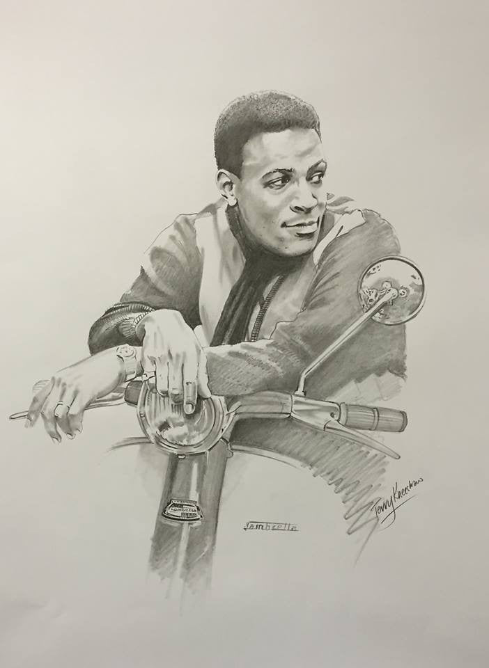 Marvin Gaye Lambretta Limited Edition Print
