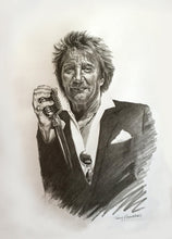 Rod Stewart Original Pencil Drawing