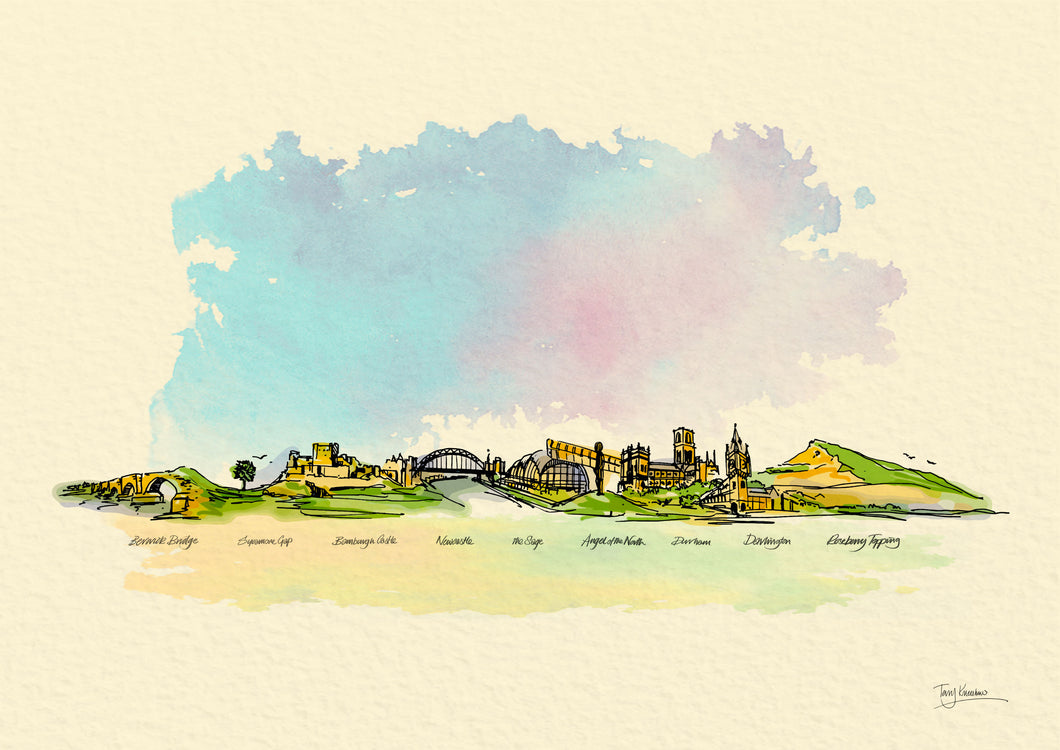 NHS North East Skyline Print