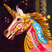 Carousel Horse or Unicorn with Hand-Painted Personalisation