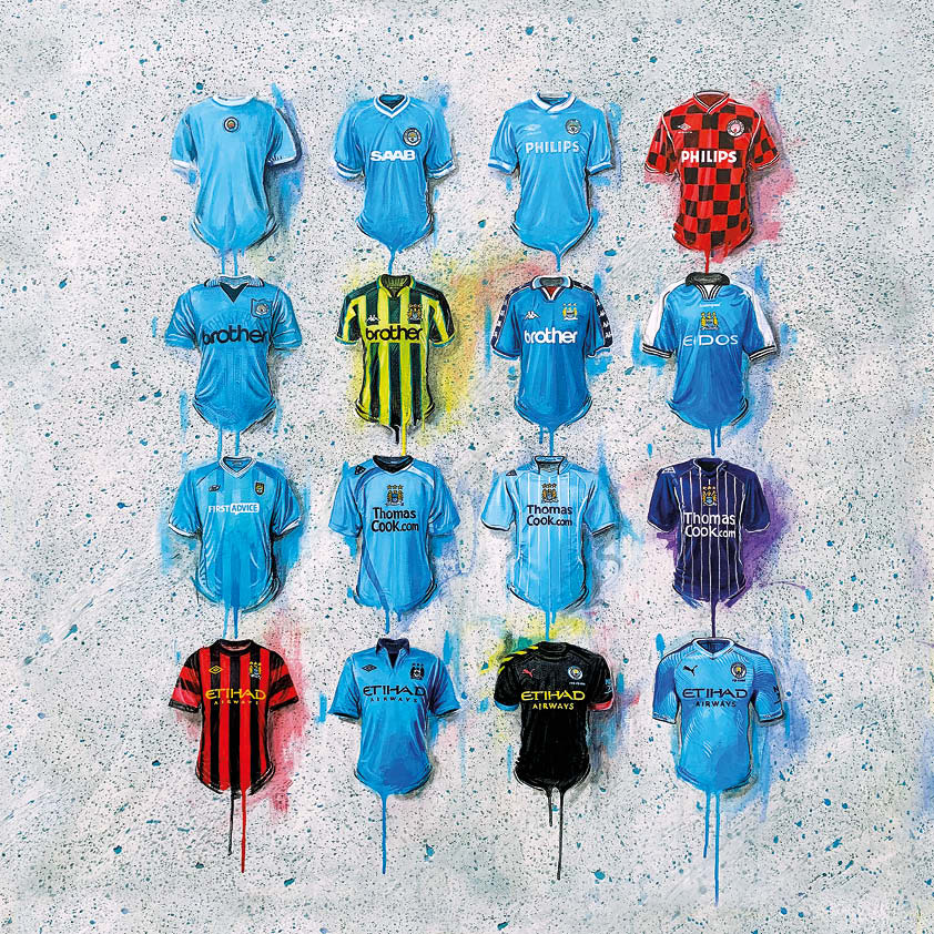 Man City Shirts Original Canvas