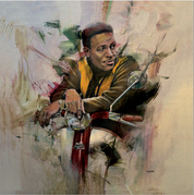 Marvin Gaye Lambretta Canvas Print