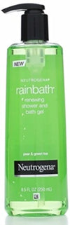 Neutrogena Rainbath Renewing Shower And Bath Gel, Moisturizing Body Wash and Shaving Gel with Clean Rinsing Lather, Pear & Green Tea Scent, 8.5 fl. oz