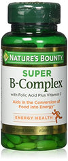 Nature's Bounty B-Complex with Folic Acid Plus Vitamin C, Tablets 150 ea (Pack of 2)