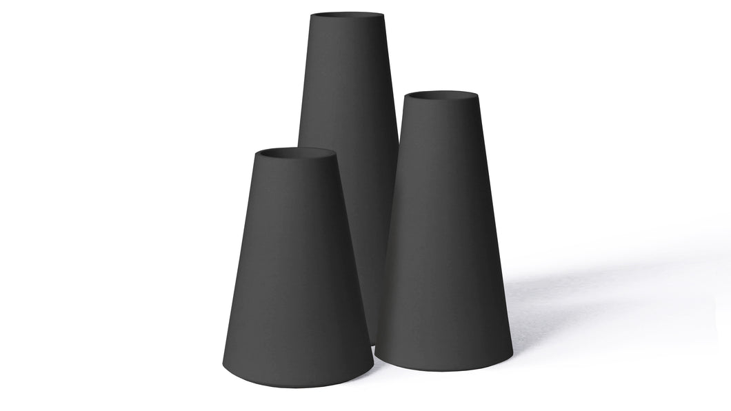 Trio Vases Black