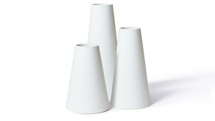 Trio Vases White
