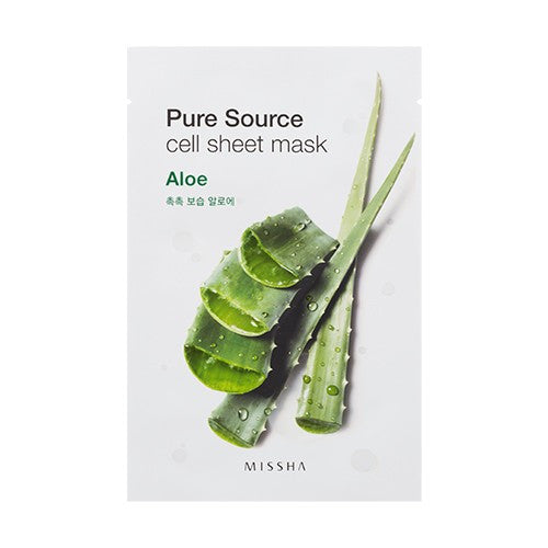 MISSHA - PURE SOURCE CELL SHEET MASK ALOE