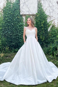 A-Line V-Neck Sleeveless Long Prom Dress With Lace Prom Dresses TP0001