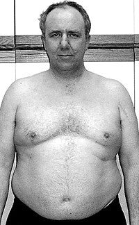 Image of an overweight and unhealthy looking Ian Clarke Founder of Activation Products before he became healthy