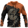 Viking Fenrir Wolf On Fire Pullover
